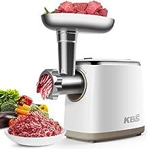 KBS Electric Food Processor Meat Grinder, Food Chopper Sausage Stuffer 1200W, 7-in-1 Multifunction with 2 Grinding Plates, 2 Vegetable Slicers, 2 Shredders, 1 Juicer, Sausage & Kubbe Kits, ETL Listed