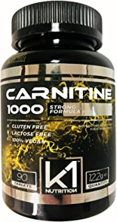 CARNITINE 1000 K1 Nutrition 90 compresse da 1 Grammo di Carnitina Integratore di L Carnitina Brucia Grassi Dimagrante Strong Formula offerta per 3 mesi GLUTEN FREE SENZA LATTOSIO 100% VEGAN