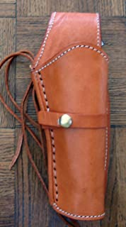 New! TAN Left Hand Leather Single Western Smooth Leather Cowboy SASS Holster for 22 Cal, 38/357 Cal or 44/45 Cal Gun Pistol by GUNS4US