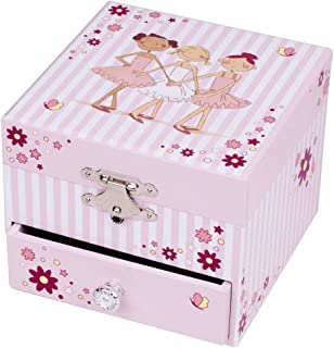 Trousselier Ballerina Music Box With Drawer (Striped)