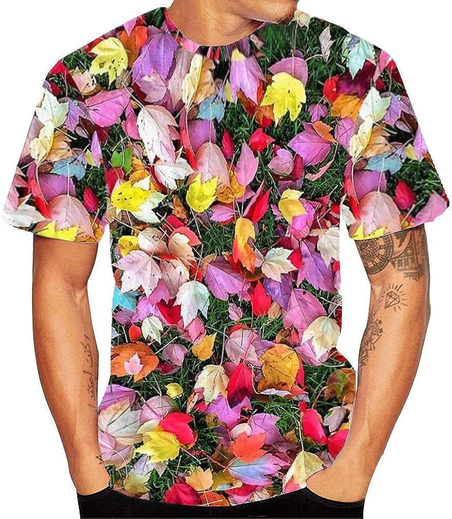 Men's 3D Flood Printed Short-Sleeved T-Shirt Top Blouse
