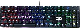 لوحة مفاتيح ألعاب ميكانيكية RGB Z-88، مفتاح أحمر - خطي، خلفية RGB قابلة للبرمجة، مقاومة للماء، 104 مفتاح مضاد للضرب لجهاز ...