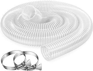 2.5 Inch x 10 Feet Dust Collection Hose - Flexible Clear PVC Heavy Duty Puncture Resistant Dust Debris Fume Hoses - Reinfo...