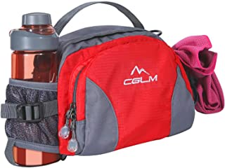 CGLM Running Waist Bag Running Belt Hiking Waist Bag Lumbar Pack Waterproof Fanny Pack with Water Bottle Holder for Men Women Hiking Cycling Climbing for iPhone iPod Samsung Phones