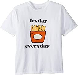 The Original Retro Brand Kids - Fryday Everyday Short Sleeve Vintage Cotton T-Shirt (Big Kids)
