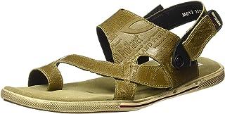 Woodland Men's Khaki Leather Sandal 8 UK/India (42 EU)-(OGD 3011118)
