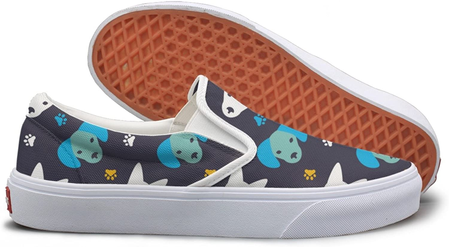 Bright Faces Of Dogs Vector Image Lightweight Sneakers For Women