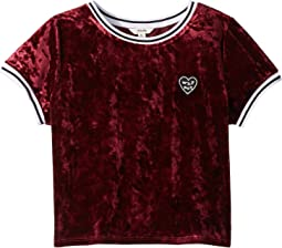 Knit Velvet Tee (Big Kids)