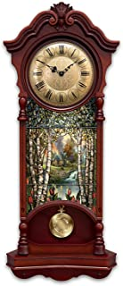 The Bradford Exchange Thomas Kinkade Light Up Stained Glass Two Feet High Clock with 4 Hour Timer