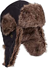 Mountain Warehouse Furry Unisex Hat - Padded Faux Fur Lining, Chin Strap & Ear Flaps