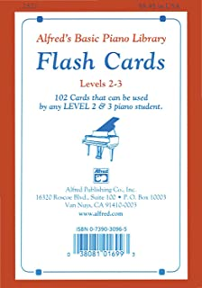 Alfred'S Basic Piano Library Flash Cards 2-3