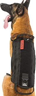 LAISATU Tactical Service Dog Vest - K9 Military Dog Harness with Dual Handles - Outdoor Dog Utility Vest with MOLLE Webbing for Training Walking Camping