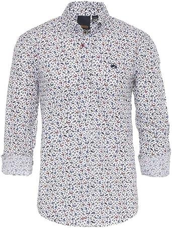 ALTONADOCK Camisa Blanca Estampado Ardillas para Hombre Large ...