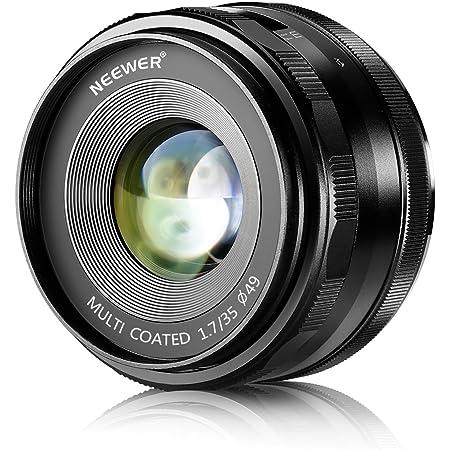 Neewer 35mm F1.7 大口径手動プライム固定レンズ APS-C E-マウントデジタルミラーレスカメラA7III A9 NEX3 3N 5 NEX5T NEX5R NEX 6 7 A6400 A5000 A5100 A6000 A6100 A6300 A6500 A3000に対応