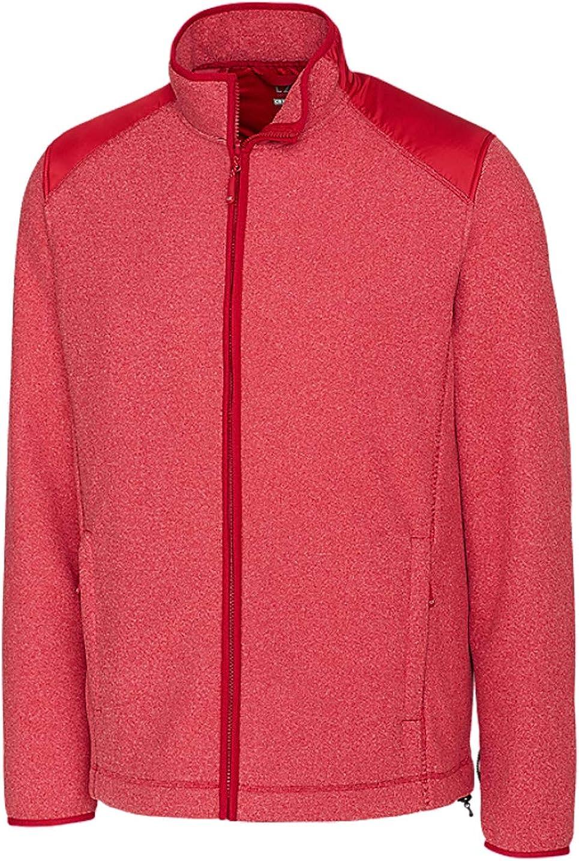 Cutter & Buck Men's Cedar Park Full Zip Jacket, Cardinal Red Heather - 4XT