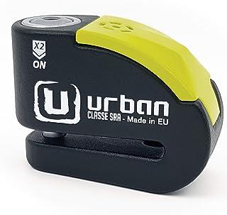 comprar comparacion Urban Security UR10 candado antirrobo Disco con Alarma 120dba + Warning, Alta Seguridad Homologado CLASSE Sra, Eje 10 mm, ...