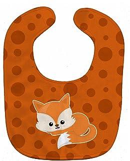 Caroline's Treasures Baby Fox Bib, Polkadot, Large