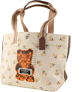 Vandal Gummy Bear Large Canvas Tote in Chalk 86650