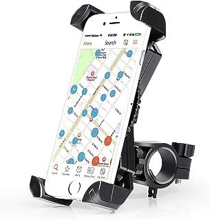 Amoner Fahrrad Hanyhalterung Motorrad Fahrrad Handyhalter Universal für 20 35mm Fahrrad Lenker Handyhalter Wiege Klammer Mit 360 Drehen für 50 195 mm Smartphone GPS Andere Geräte