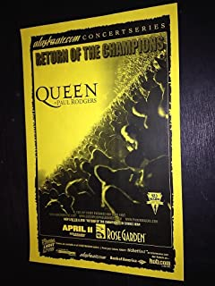 Queen No Freddie Mercury Rare Portland Oregon Rose Garden Concert Tour Poster