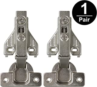 Gobrico Soft Close Kitchen Cabinet Hinges Face Frame Furniture Concealed Cupboard Hinge 105Degree Full Overlay 1Pair/2Piece