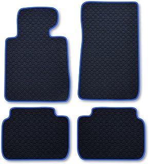 RAU Gummimatte Fussmatte Octagon mit Blauer Bandeinfassung   Fahrzeug Siehe Text