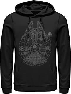 Star Wars Men's Millennium Falcon Outline Hoodie