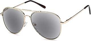 VVDQELLA Reading Sunglasses Readers, Aviator Stylish Men's & Women's Full Frame UV400 Protection Grey Lens Outdoor Reading Glasses