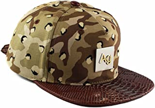 AGORA Desert Camo Snakeskin Silver Strapback Hat
