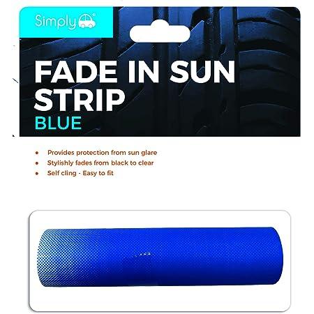 Foliatec 1714 Sunvisor Reflex Blendstreifen Schutz Und Stylischer Farbverlauf 20 X 150 Cm Blau Auto