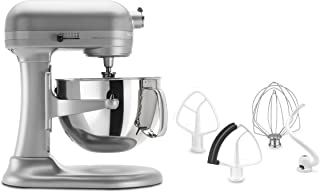 KitchenAid 5.5-Quart Professional 550 Plus Heavy Duty Stand Mixer - Commercial Style Wide Steel Bowl - 575 Watt Motor - KV25MEX - Contour Silver