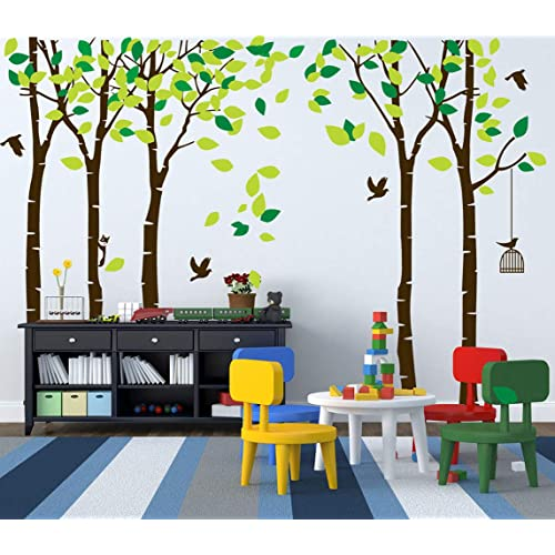 a67f8ea5fb2 ANBER Giant Jungle Tree Wall Decal Removable Vinyl Mural Art Wall Stickers  for Kids Nursery Bedroom