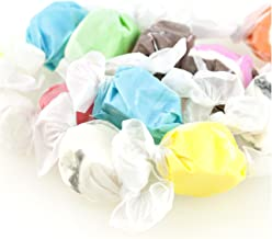 Assorted Saltwater Taffy Bulk Candy (3 lb) Flavors Chocolate, Huckleberry, Peppermint, Banana, Vanilla, and More