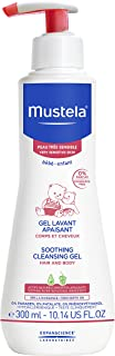 Mustela Soothing Cleansing Gel for Very Sensitive Skin, Baby Body Wash, Tear-Free and Fragrance-Free, with Natural Avocado...