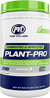 PVL Plant Pro, High Protein Plant-Based Protein Shake Mix with Added Enzymes, Natural Vanilla, 840 Gram