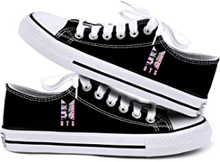 BTS Sneakers,Kpop RM Suga Jimin V Jungkook Canvas Shoes for Women and Lovers