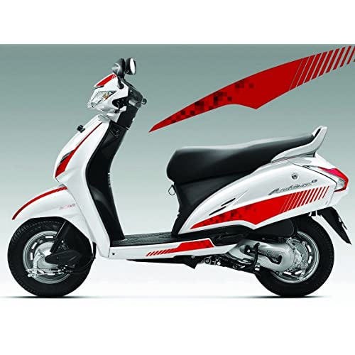 Autographix 1004344 Street Rider Graphic Decals for Honda Activa 3G (Set of 10, Red)