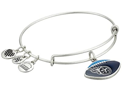 Alex and Ani Color Infusion Tennessee Titans Football II Bangle (Rafaelian Silver) Bracelet
