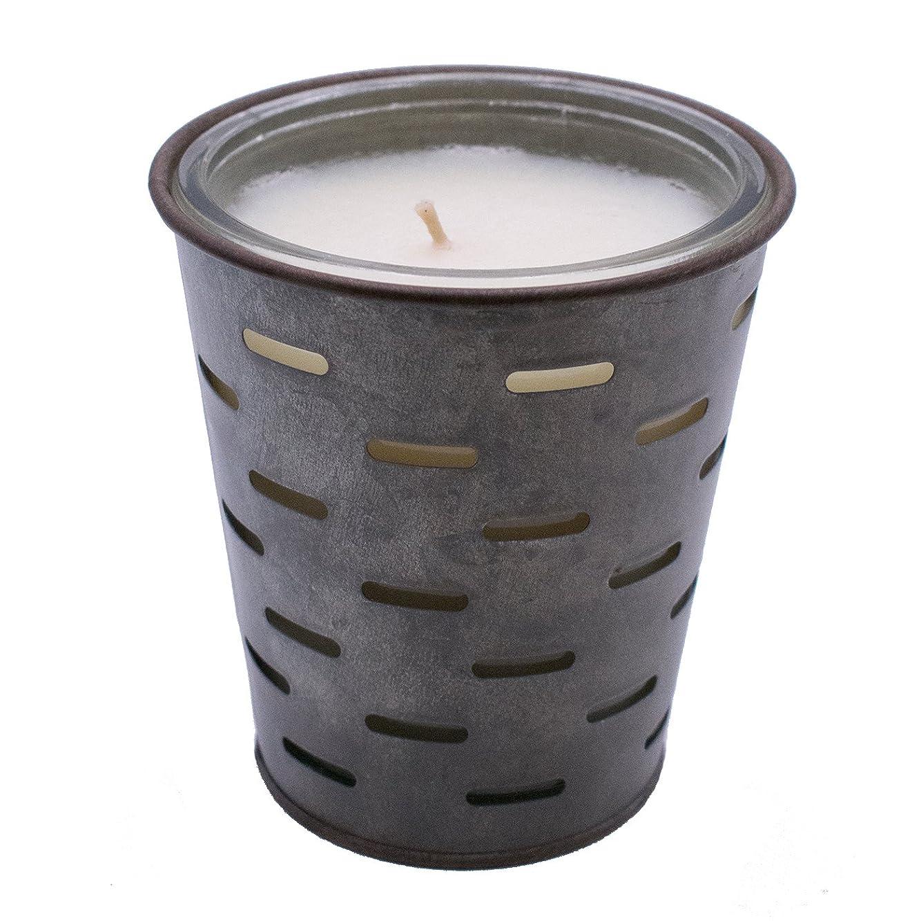 有害なファーム光沢のあるSweetオリーブ、オリーブバケットFragrance Candle優れ、香り、ガラスJar in Tin Pot亜鉛メッキ、13oz