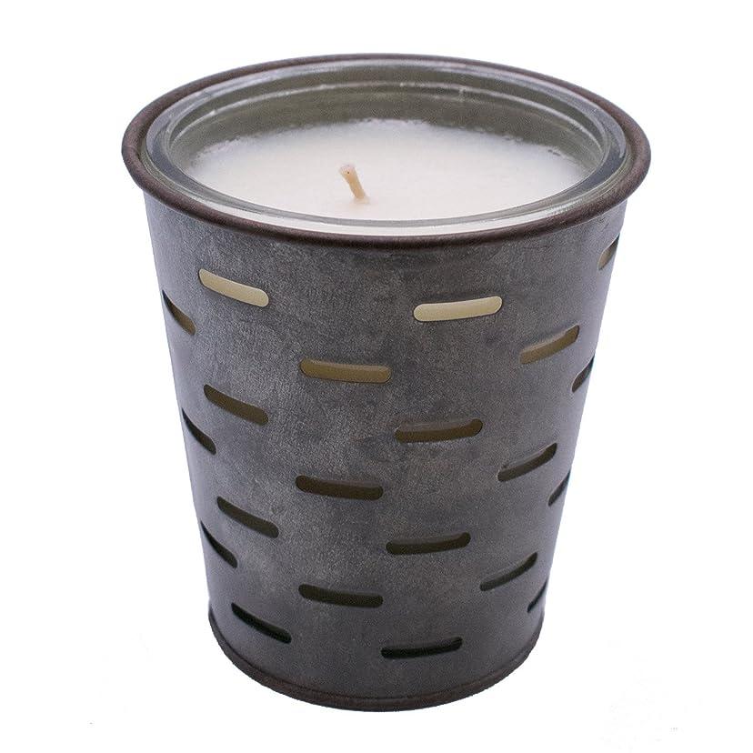意気揚々うがい薬無声でSweetオリーブ、オリーブバケットFragrance Candle優れ、香り、ガラスJar in Tin Pot亜鉛メッキ、13oz