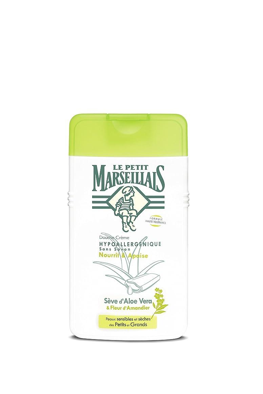 不和挑発するウォーターフロント「アロエベラ」と「アーモンドの花」石鹸不使用 低刺激 敏感肌用 中性 シャワークリーム フランスの「ル?プティ?マルセイユ(Le Petit Marseillais)」250ml ボディウォッシュ