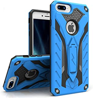 ZIZO Static Series Compatible with iPhone 8 Plus Case Military Grade Drop Tested with Kickstand iPhone 7 Plus iPhone 6s Plus Case Blue Black