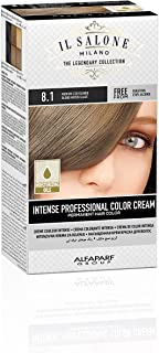 Il Salone Milano Professional Permanent Color Kit - 8.1 Medium Iced Blonde - 100% Gray Coverage Hair Dye - Paraffin Free - Ethyl Alcohol Free - Moisturizing Oils