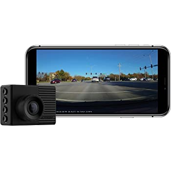 "Garmin Dash Cam 56, Wide 140-Degree Field of View In 1440P HD, 2"" LCD Screen and Voice Control, Very Compact with Automatic Incident Detection and Recording"