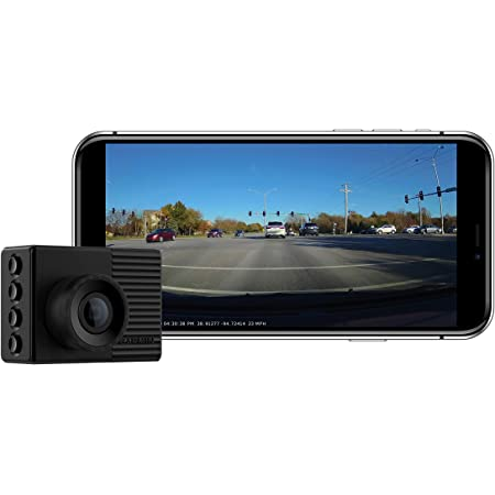 """Garmin Dash Cam 56, Wide 140-Degree Field of View In 1440P HD, 2"""" LCD Screen and Voice Control, Very Compact with Automatic Incident Detection and Recording"""