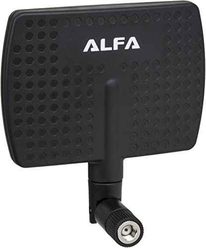 2021 Alfa 2.4HGz 7dBi RP-SMA wholesale Panel Screw-On Swivel Antenna Netwrok Adaptors - Also Works for 3DR Solo Drone, DJI Phantom 3 Drone, Yuneec Typhoon outlet online sale H ST16 Controller, adds Range online