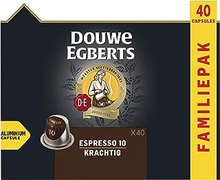 Douwe Egberts Koffiecups Espresso Krachtig Voordeelverpakking (200 Capsules, Geschikt voor Nespresso* Koffiemachines, Inte...