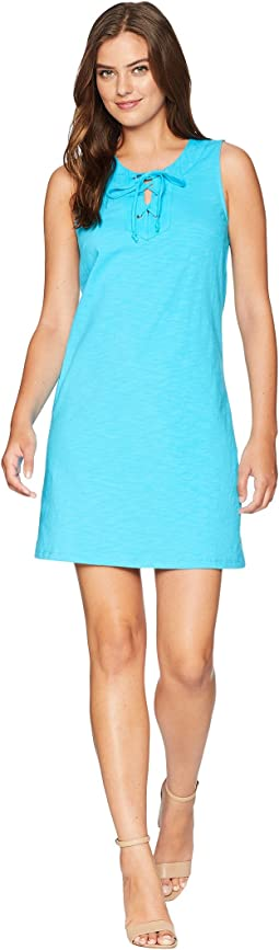 Jer-Sea Sleeveless Tie Front Dress