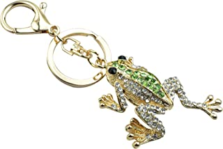 Green Toad Keychain Quirky Animal Charm Funny Frog Necklace Cottage Jewelry
