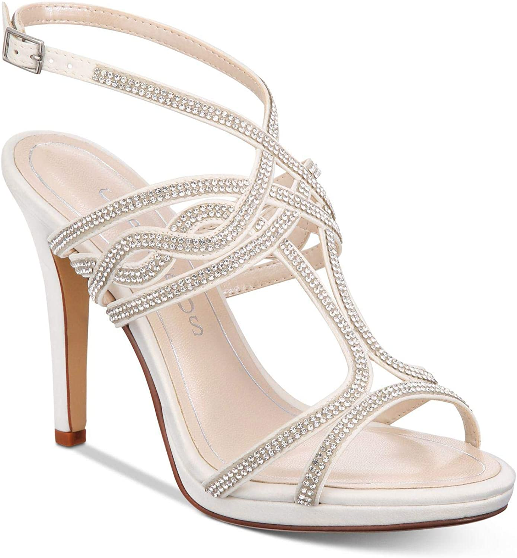 Caparros Womens Heather Satin Embellished Evening Sandals
